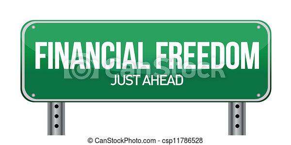 Señal de libertad financiera - csp11786528