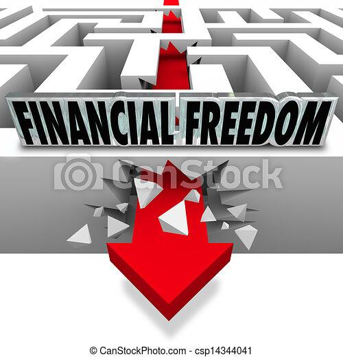 La libertad financiera rompe las cuentas de quiebra - csp14344041