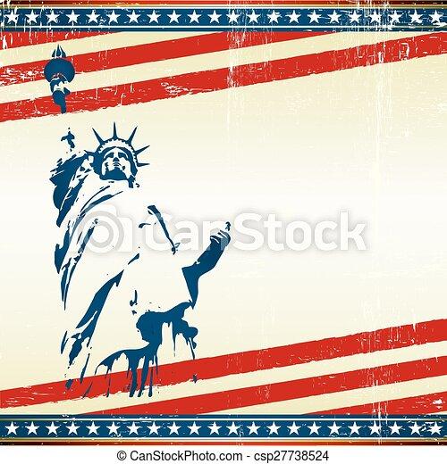 Una postal cuadrada de libertad - csp27738524