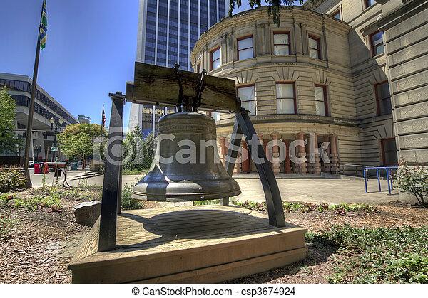 Liberty Bell at City Hall - csp3674924