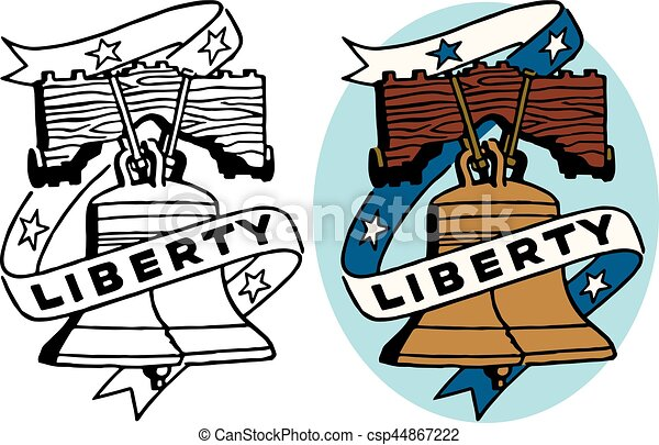 a symbol of american freedom the liberty bell vector illustration rh canstockphoto com liberty bell outline clip art liberty bell images clip art