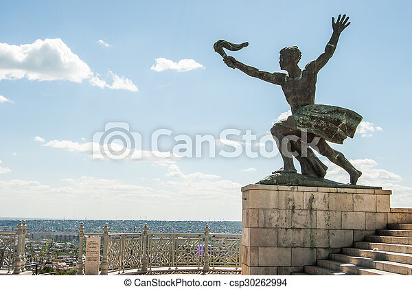 liberty statue of Budapest - csp30262994