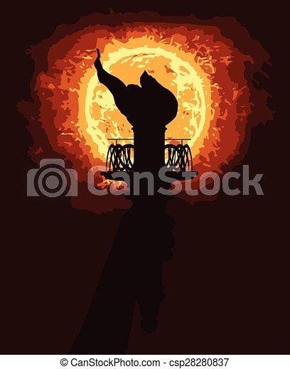 Liberty Torch - csp28280837