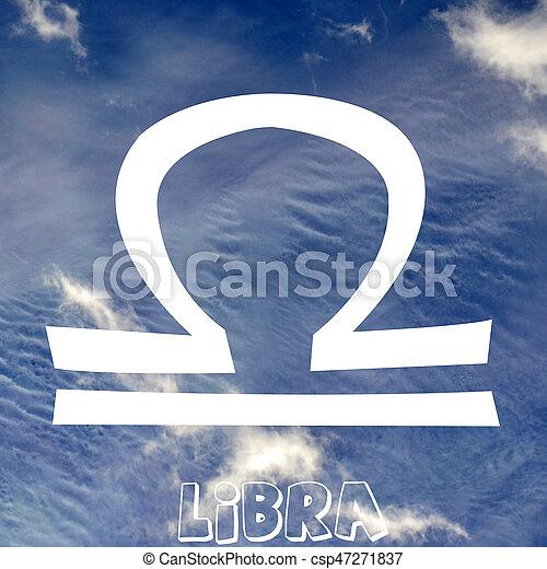Libra Zodiac Sign On Air Element Background