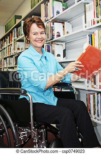 Librarian in Wheelchair - csp0749023