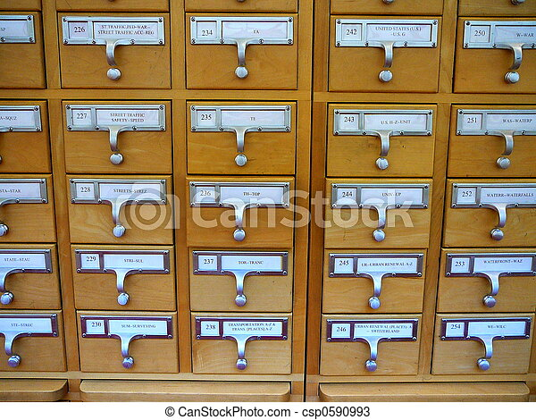 Great Library Card Catalog   Csp0590993