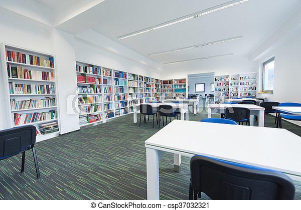 library interior - csp37032321