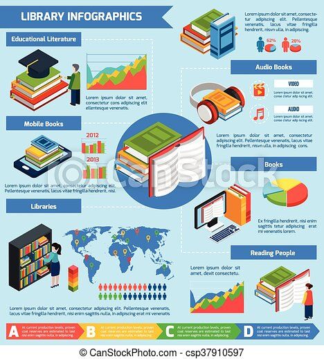 library-isometric-infographics-drawing_c