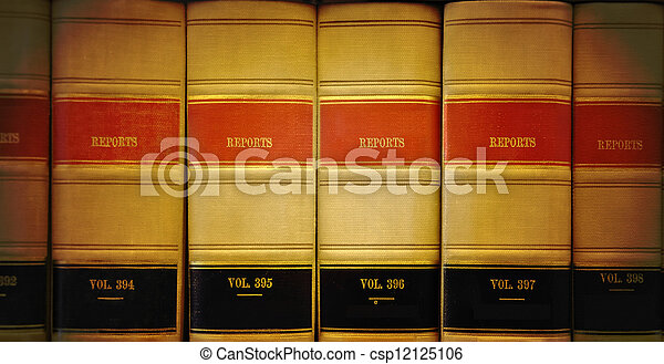 Library Law Books - csp12125106