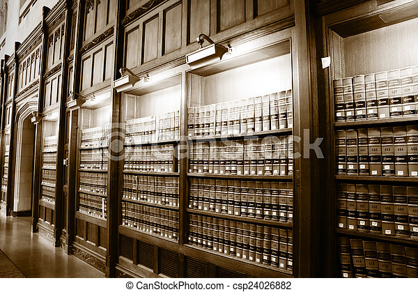 Library of law books - csp24026882