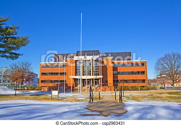 Library on the campus of a historically black university in wint - csp2963431