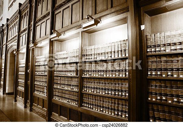 libri legge, biblioteca - csp24026882