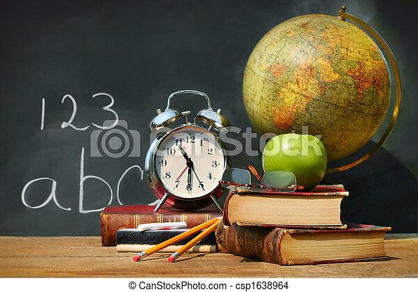 libri, vecchio, scuola - csp1638964
