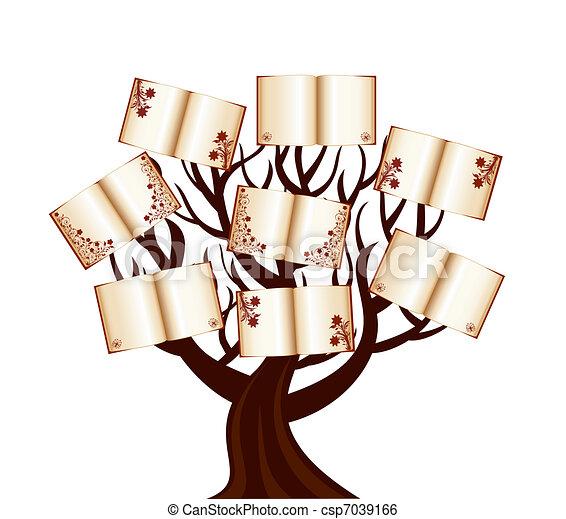 libri, vettore, albero, illustrazione - csp7039166