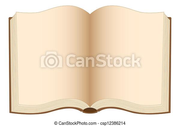 Libro abierto - csp12386214