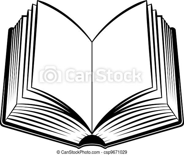 Libro abierto - csp9671029