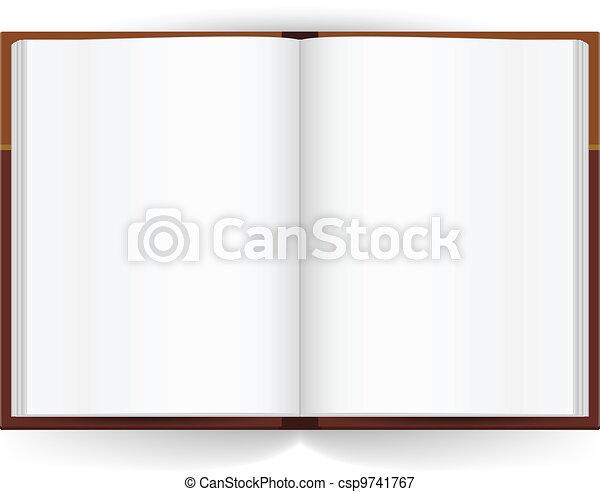Libro abierto - csp9741767