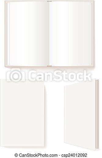Libro abierto, libro cerrado - csp24012092
