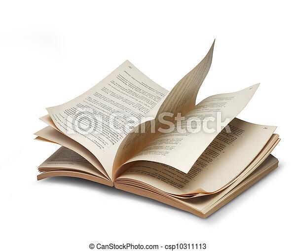 Libro abierto de las páginas de riffling - csp10311113