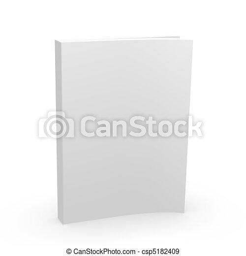 Cubierta de libros en blanco - csp5182409