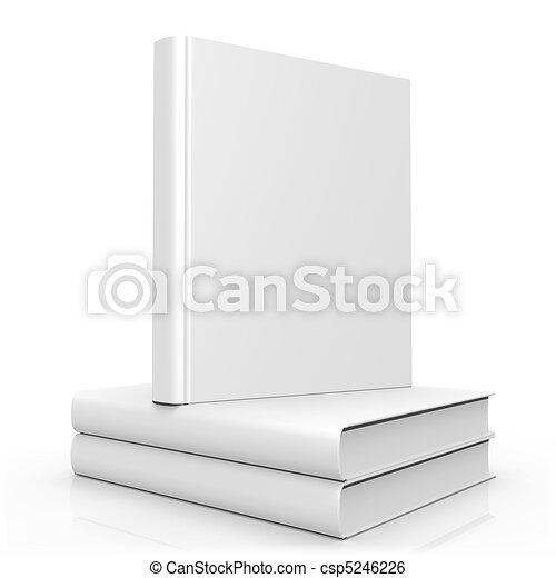 Cubierta de libros en blanco - csp5246226