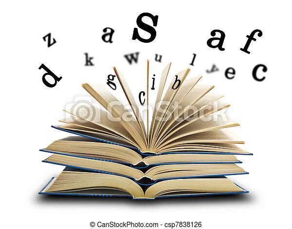 libro, cartas - csp7838126