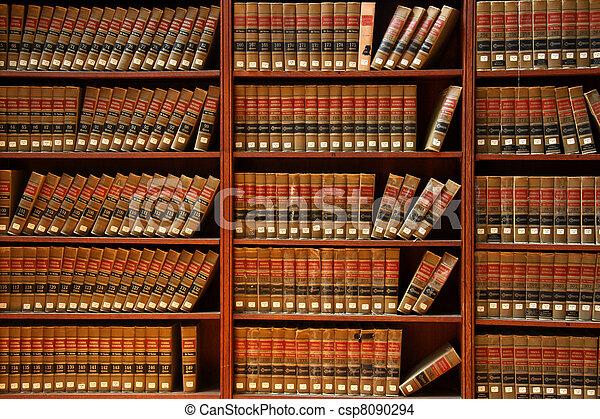 libro de derecho, biblioteca - csp8090294