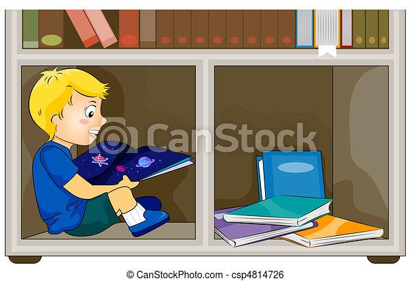 Un chico leyendo un libro - csp4814726