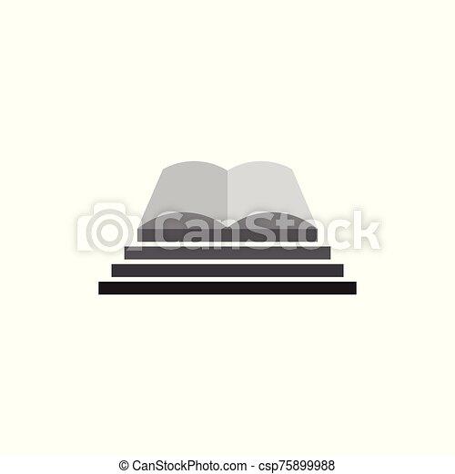libro, escalera, éxito, vector, símbolo - csp75899988