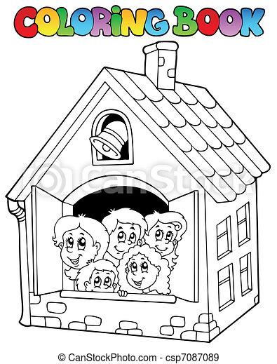 Libros de colores caricaturas 4 - csp7087089
