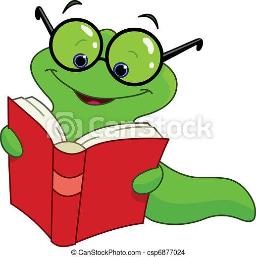 Gusano de libros - csp6877024