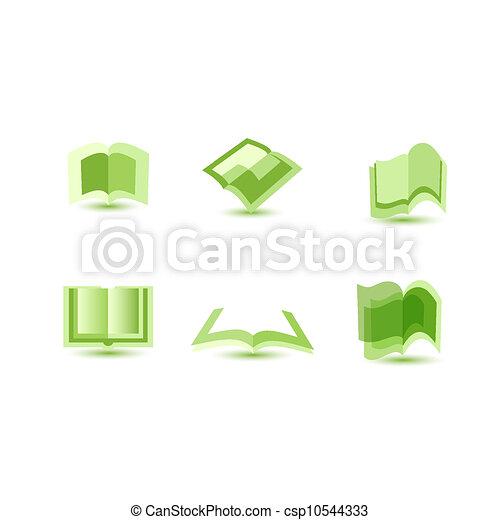 Ilustración de iconos de libros - csp10544333