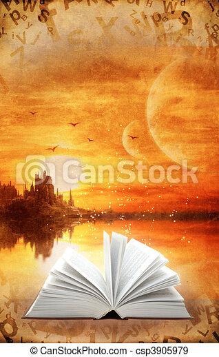 libro, magia - csp3905979