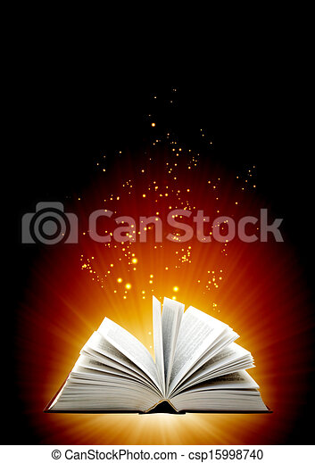 libro, magia - csp15998740