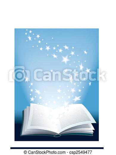 Libro mágico - csp2549477