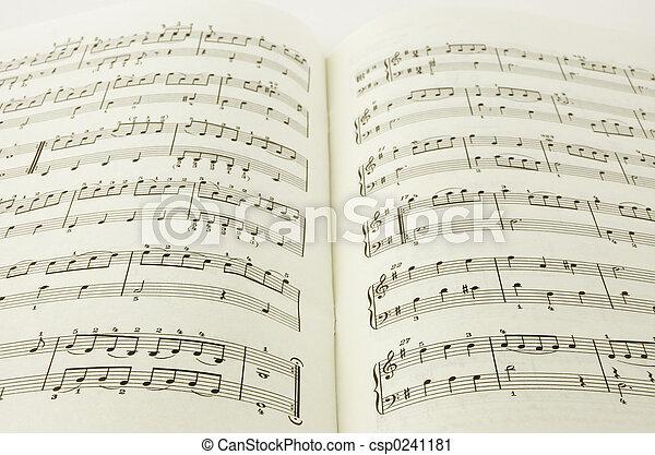 libro, musica - csp0241181