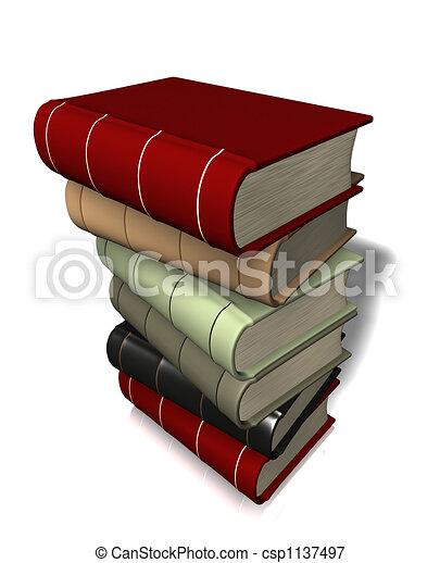 Un montón de libros - csp1137497