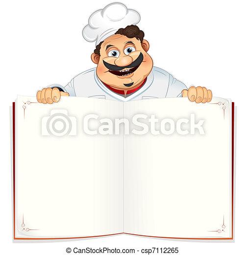 libro, ricetta - csp7112265