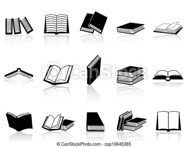 libro, set, icone - csp10645365