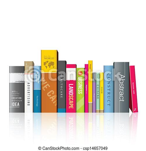 Fila de libros coloridos - csp14657049