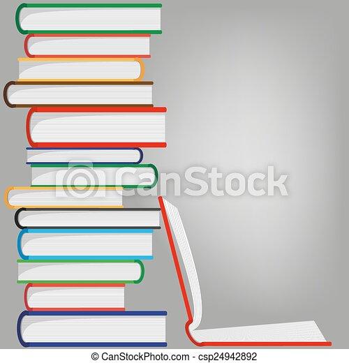 libros, pila - csp24942892