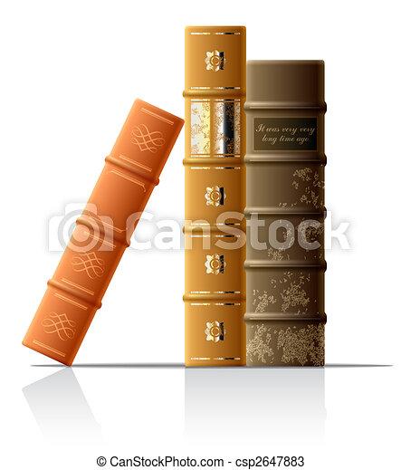 Libros viejos - csp2647883
