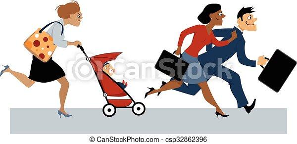 licença, maternidade, retorno - csp32862396