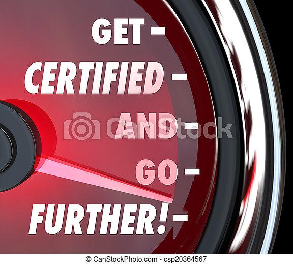 licens, bekräftelse, få, q, gå, längre, hastighetsmätare, auktoriserad revisor - csp20364567
