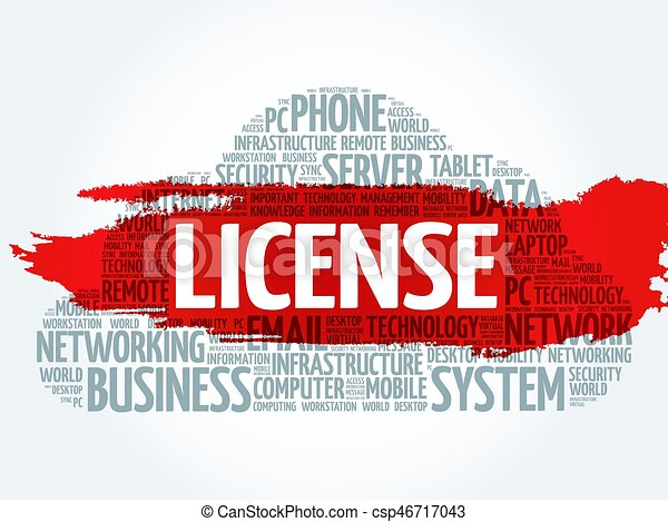 LICENSE word cloud collage - csp46717043