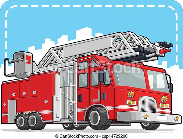 licenziare camion motore, o, rosso - csp14729200