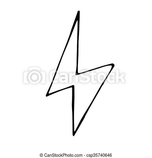 Licht, abbildung, hand, vektor, gekritzel, gezeichnet,... EPS Vektor ...