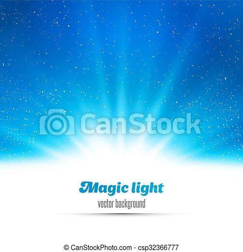 licht, abstract, magisch, achtergrond. - csp32366777