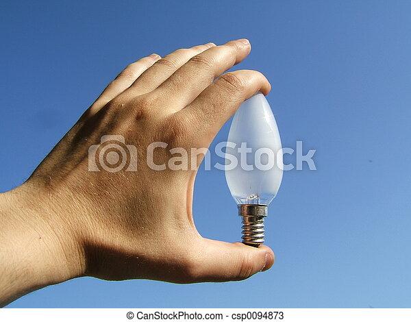 licht, hand - csp0094873