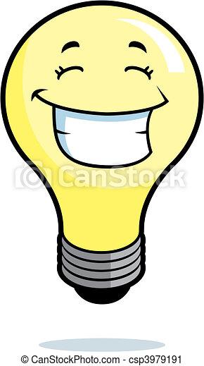 licht, het glimlachen, bol - csp3979191